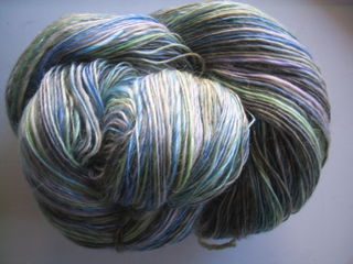 Merino and Tencel - Waterlily - Laceweight Singles 001