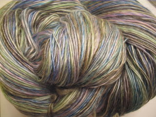 Merino and Tencel - Waterlily - Laceweight Singles 003