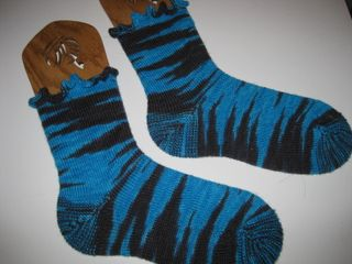 Zebra Striped Socks 002